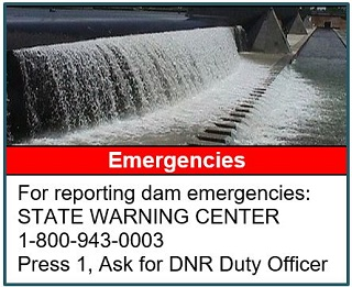 Report dam emergencies at 1-800-943-0003