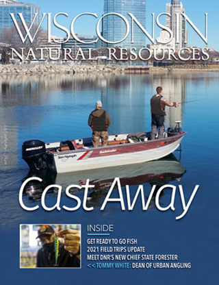 Cover of the spring 2021 issue of the Wisconsin Natural Resources magazine.