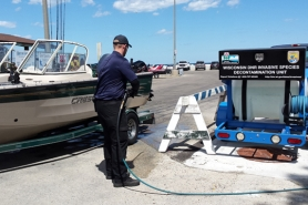 Cleaning boats and equipment