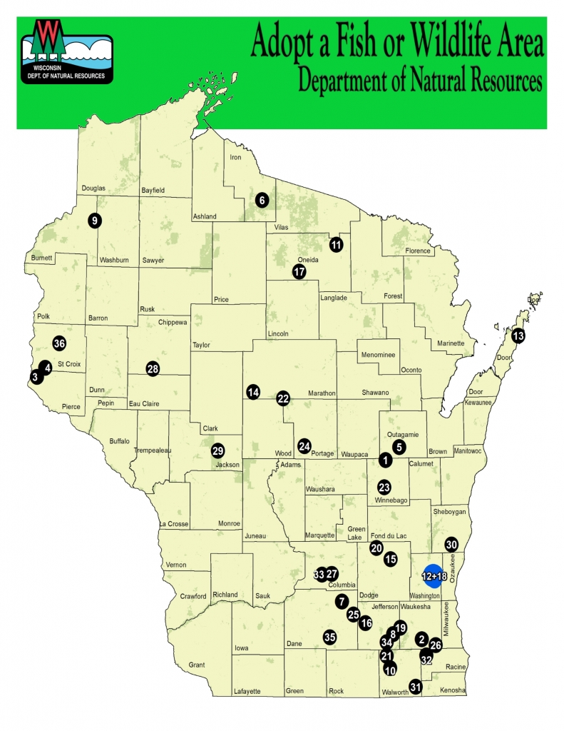 Adopt a Fish or Wildlife Area Map