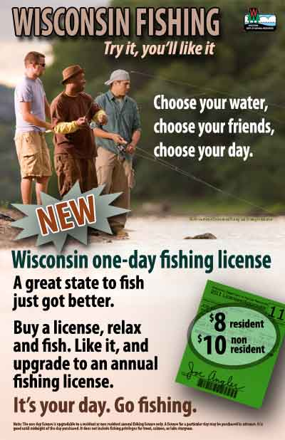 One day license fishing buddies