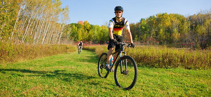 Biking in the Kettle Moraine State Forest
