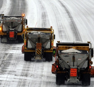 Pre-Wetting Salt in 68 of 72 counties to prevent salt from bouncing off the pavement.