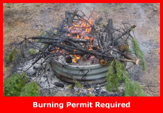 A campfire which would require a burn permit.