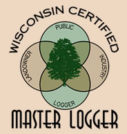 The Wisconsin Certified Master Logger logo.