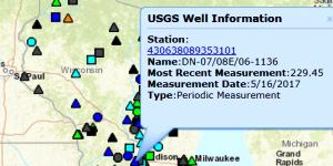 Wisconsin's groundwater-level monitoring network has been operated jointly by WGNHS and USGS since 1946.