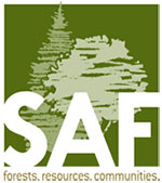 The Society of American Foresters logo.