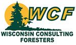 The Wisconsin Consulting Foresters logo.